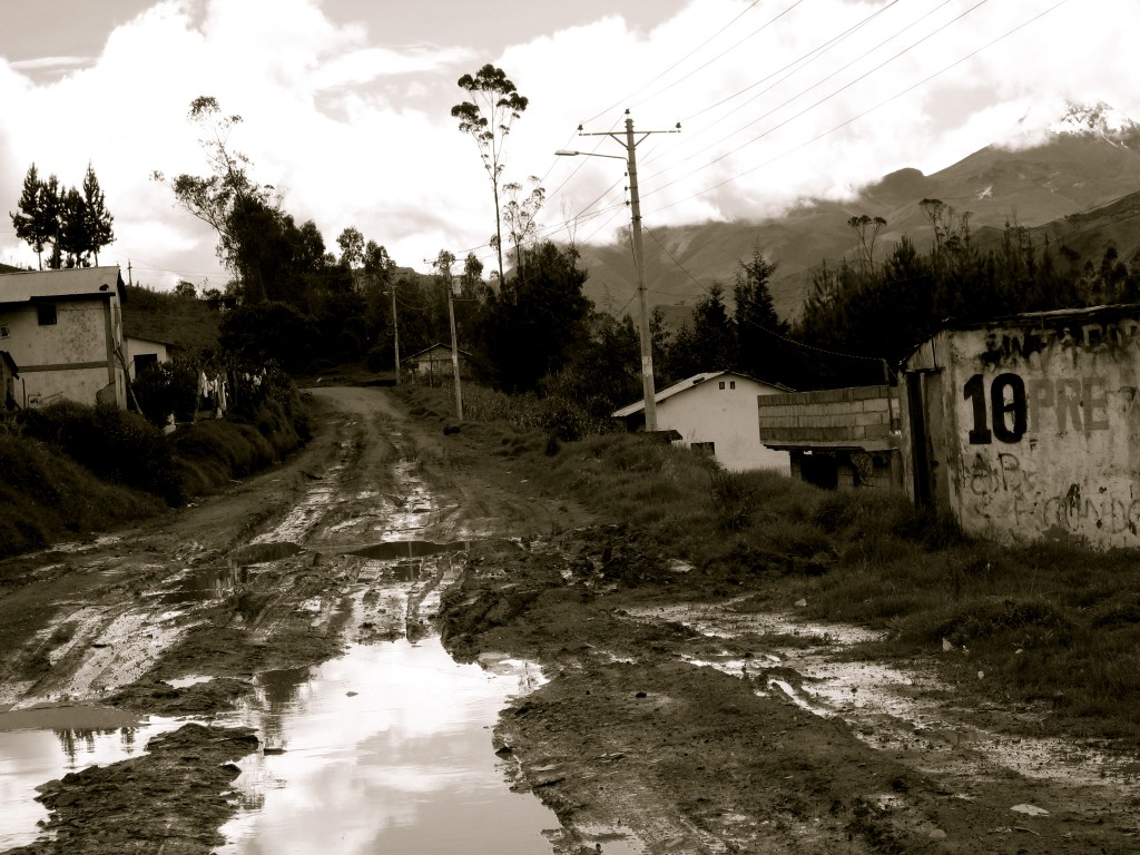 Muddy Roads Ecuador by Suzanna Lourie