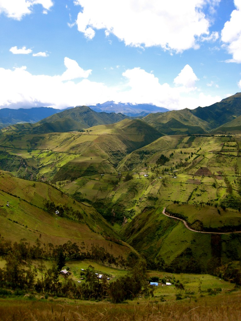 Andes Farmland Ecuador by Suzanna Lourie